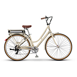 Raleigh Electric Superbe iE Step Thru Tan