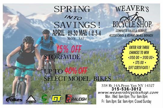 Spring Bike Sale
